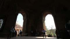Qutab complex arches c Stock Footage