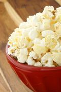 fresh delicious popcorn - stock photo