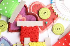 Sewing arrangement Stock Photos