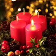 Advent wreath detail Stock Photos