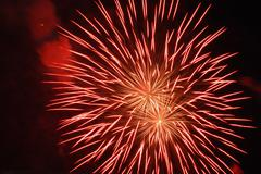 Red firework Stock Photos
