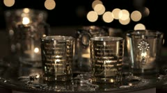 Tealights in a Christmasy atmosphere Stock Footage