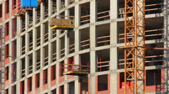 Construction of new building Stock Footage