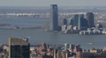 Aerial View of Jersey City, New Jersey State, Hudson River, Skyscrapers, USA HD Footage