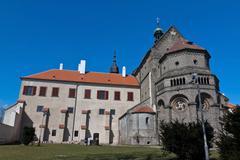 basilica saint procopius in trebic, czec republic. - stock photo