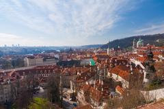 Cityscape of prague, czech republic Stock Photos