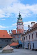 Krumlov castle, czech republic. Stock Photos