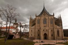 St.barbara church in kutna hora Stock Photos