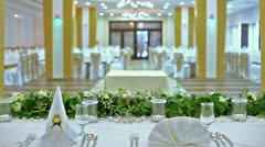 Wedding hall interior Stock Footage