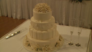 Stock Video Footage of Wedding cake 1