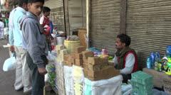 India Chandni Chowk food market Stock Footage