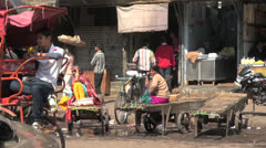 India Chandni Chowk food market Stock Footage