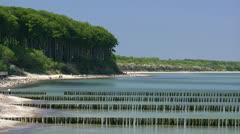 Beautiful Heiligendamm Beach - Baltic Sea, Northern Germany Stock Footage