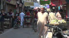 Delhi Chandni Chowk man walking Stock Footage