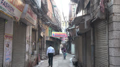 Delhi Chandni Chowk alley  Stock Footage
