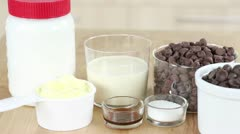 Ingredients for chocolate fudge Stock Footage