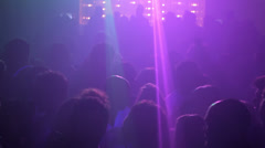 View of people in disco, while they dance - stock footage
