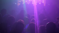 Stock Video Footage of View of people in disco, while they dance