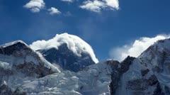 Mount Everest's lenticular cloud Stock Footage