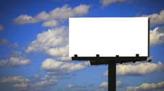 Billboard with background Cloud Timelapse with Alpha mask Stock Footage