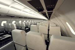 Airplane seats. Stock Illustration