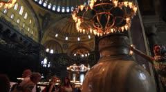 Interior of Hagia Sophia Museum Stock Footage