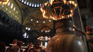 Stock Video Footage of Interior of Hagia Sophia Museum