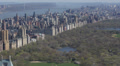 Aerial View of Central Park, Manhattan Skyscrapers, New York City, Hudson River Footage