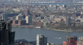 Aerial View of Jersey City, New Jersey State, Hudson River, Skyscrapers, USA Footage
