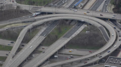 Chicago Commuters Interstate 290, Circle Interchange, Kennedy Expressway Stock Footage