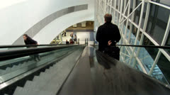People on escalator Stock Footage