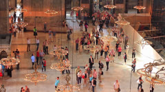 Interior of Hagia Sophia Stock Footage