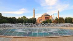 Hagia Sophia. Pan Video Stock Footage