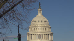 US Capitol dome, Congress in sunny day, Washington DC, USA Stock Footage