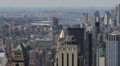 Skyscrapers Aerial View, New York City, Brooklyn, Manhattan Bridge, East River Footage
