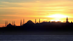 Historical Istanbul. Timelapse Stock Footage
