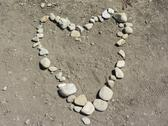 Stock Photo of Heart Made From Rocks On Beach