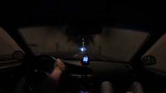 Driving Out of Tunnel - Accelerated Fast Motion Stock Footage