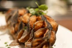 Deep Fried Catfish On Platter Stock Photos