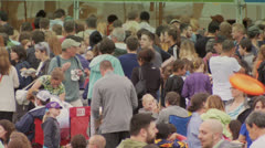 People Enjoy the Pittsburgh Arts Festival Stock Footage