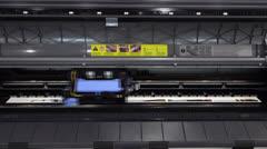 Stock Video Footage of shuttling cartridge in printing machine