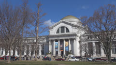 National Museum Natural History sunny day Washington DC USA iconic building icon - stock footage