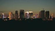 Heihe City Night Skyline Stock Footage