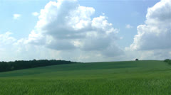 Rural landscape with  clouds. PAL Time lapse Stock Footage