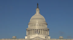 The United States Capitol dome, Congress in sunny day, Washington DC, USA Stock Footage
