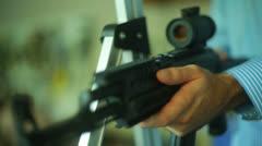 Gun scope sniper bushwacker bushwack Stock Footage