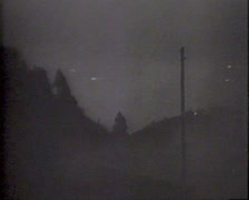 WW2 - US Anti Air Fire At Night 01 (PAL) Stock Footage