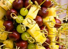 Stock Photo of any fresh fruit on skewer