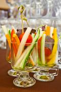 coctail from any cut vegetables - stock photo