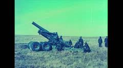 US Artillerie Misc Guns Firing 01 Stock Footage